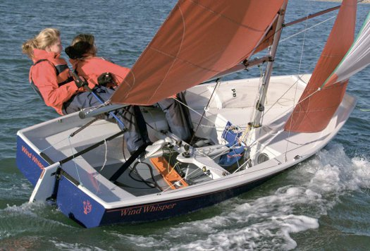 Mirror dinghy 70500 sailing in 2006