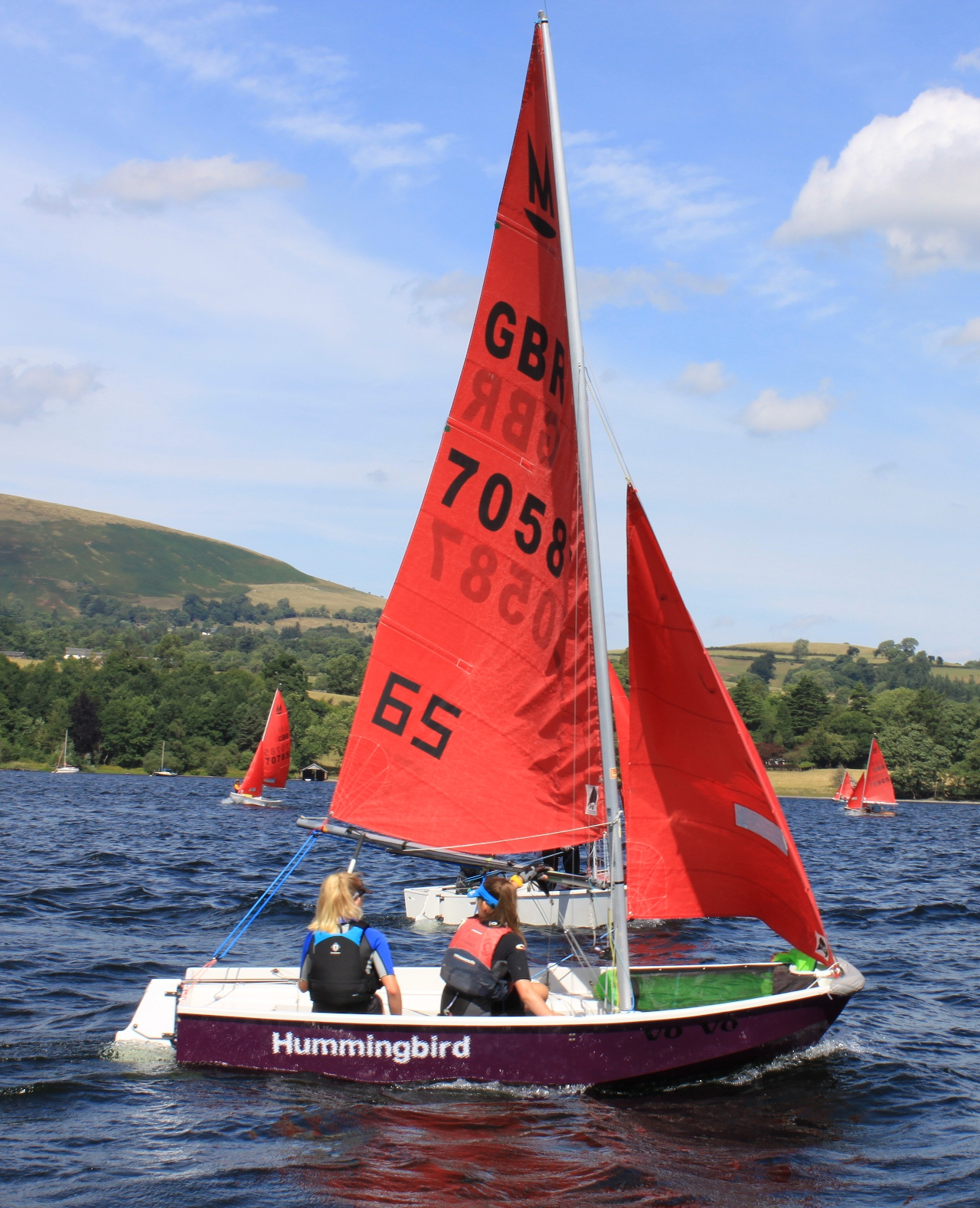 A purple Mirror racing on Ullswater