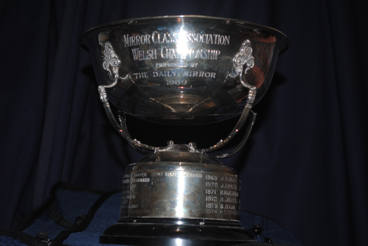 A silver cup supported by four legs above a black plastic base with silver ring